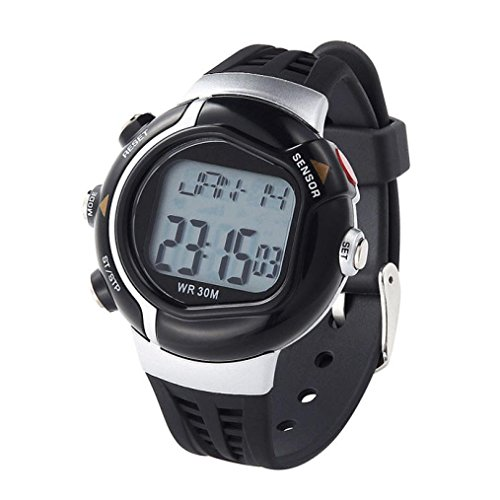 Price comparison product image Mandy Waterproof Fitness Heart Rate Monitor Sport Watch Calories Counter Black