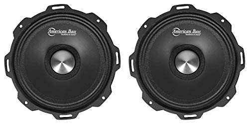 "(2) American Bass GODFATHER 6.5"" 600w Open Back Midrange Car Speakers GF 6.5MR"