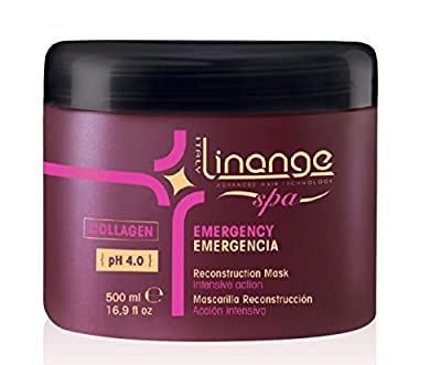 Linange Spa - Emergency Collagen Mask (500ml); Strengthening, Hydrating, Revitalizing Hair Care Product; Hair Mask w/ Proteins for Men and Women – for Thin, Dry, Damaged, Treated Hair
