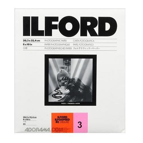 Ilford Ilfospeed RCデラックス樹脂コーティングブラック&ホワイトEnlarging用紙 – 8 x 10