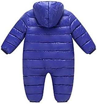 TAIYCYXGAN Baby Girls Boys Winter Snowsuit Down Jacket Zipper Hooded Puffer Onesie Romper Warm Outwear Bodysuit