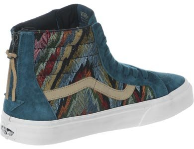 Vans Sk8-hi Zip Ca (italianweave / Pigsuede) Atlantic Deep Mens Shoes Vn000xh9hui (11)