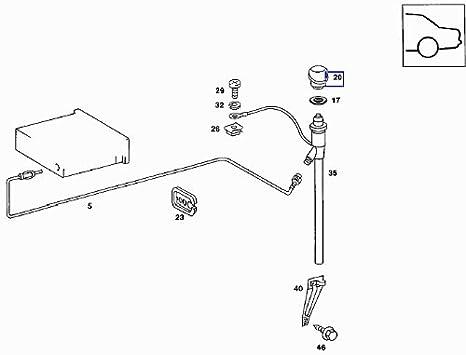 Mercedes W123 W126 Aerial Antenna Grommet Seal Gasket A1268271598