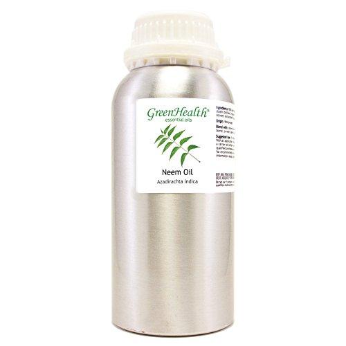 Greenhealth Neem – 16 fl oz (473 ml) Aluminum Bottle w/Plug Cap – 100% Pure Essential Oil