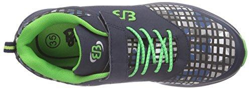 Bruetting Print VS, Scarpe da corsa bambini Blu Blau (Grau/grün) 35