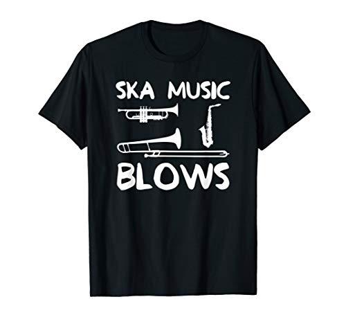 Funny Ska Music Blows Punk Band Dad Joke Gift T-Shirt (Ska Christmas Gifts)