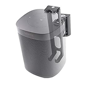 Wall Mounts Bracket for SONOS ONE and SONOS Play 1 Speaker (Swivel and Tilt,Compatible with Both SONOS ONE and SONOS Play 1, Black)