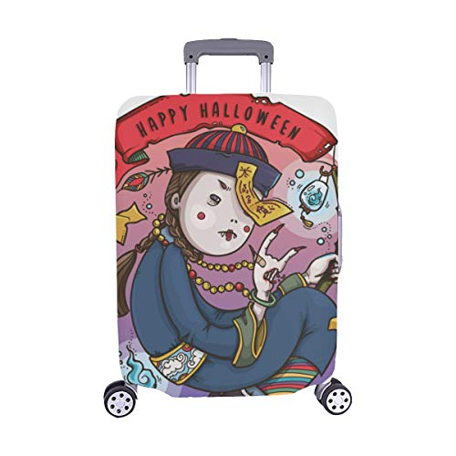 Cute Cartoon Zombies Pattern Spandex Trolley Case Travel Luggage Protector Suitcase Cover 28.5 X 20.5 -