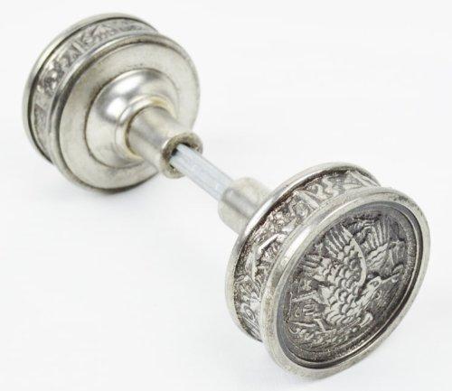 Victorian Eastlake Type Antique Nickel Humming Bird Door Knob (Eastlake Door Knob)