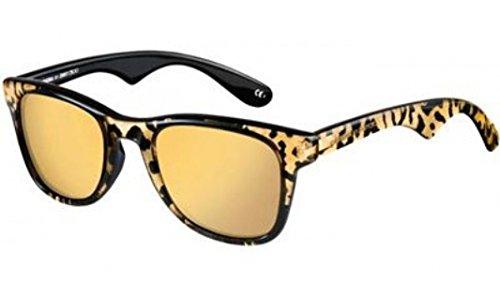 Carrera 6000/JC/S Sunglasses CA6000JCS-03TB-IJ-5023 - Panther Frame, Gold Mirror 24k Lenses, Lens
