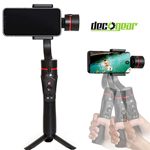 Deco Gear 3-Axis Handheld Cell Phone Gimbal Stabilizer iOS/Android Compatible - GIM100BK