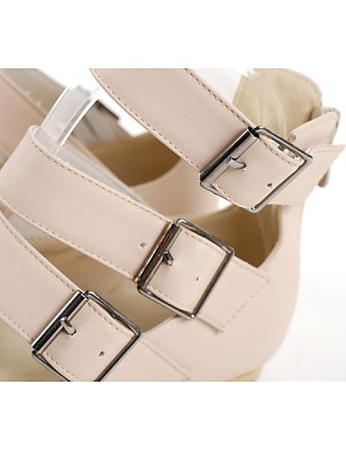 PDX/ Damenschuhe - Stiefel - Kleid / Lässig - Kunstleder - Flacher Absatz - Neuheit / Modische Stiefel - Beige beige-us6 / eu36 / uk4 / cn36