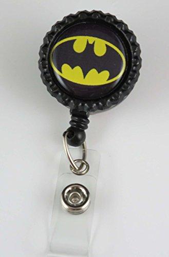 Super Hero Batman - Nurse Badge Reel - Retractable ID Badge Holder - Nurse Badge - Badge Clip - Badge Reels - Pediatric - RN - Name Badge Holder (Super Hero Id Badge Holder)