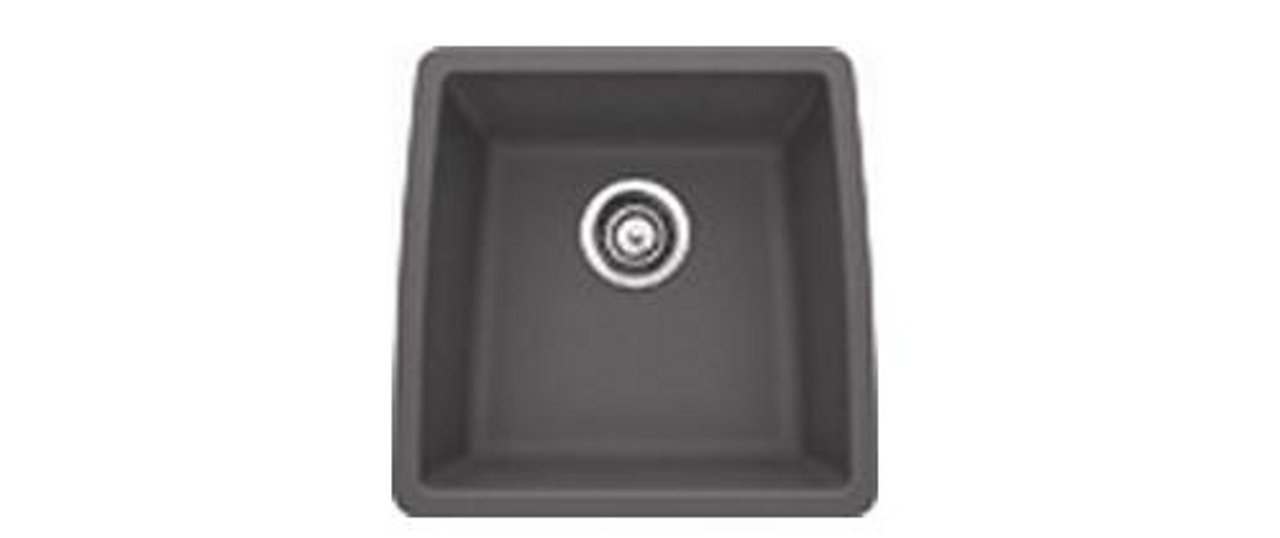 Blanco 441475 Silgranit II Preforma Single Bowl, Cinder