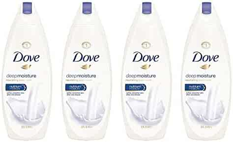 Dove Body Wash for Dry Skin Deep Moisture Sulfate Free Body Wash 22 Fl Oz (Pack of 4)