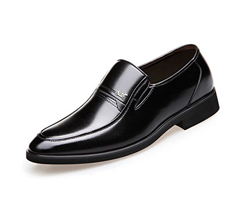 LEDLFIE Chaussures en Cuir Printemps et L'automne des Hommes Chaussures D'Affaires Robe Chaussures Occasionnelles Ensemble de Pieds Black dbpKg