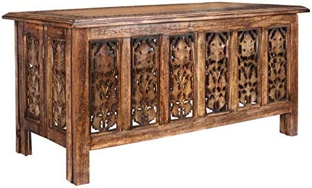 Rectangular Wooden Coffee Table with Storage, Coffee Table Wood, Modern Wooden Coffee Table, Side Tables, Entryway Table, Living Room Side Table for Magazines, Books and Plants-36×18 Inch Burnt