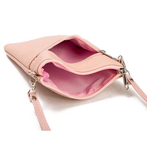 Del Lmmvp Rosa Color Mensajero Del De Bolso De Hombro Bolso Del Del Mujeres Bolsas Teléfono q4H6vwtx
