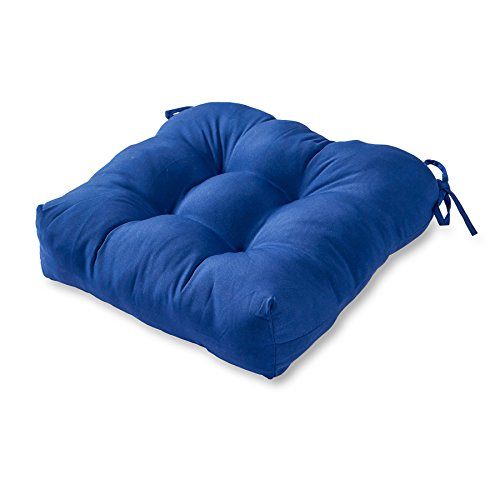 Greendale Home Fashions 20-Inch Indoor/Outdoor Chair Cushion, Marine Blue