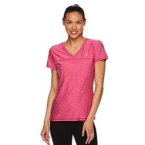 HEAD Women's High Jump Short Sleeve Workout T-Shirt - Performance V-Neck Activewear Top 26