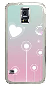 Gradient PC Transparent Hard Case Cover Skin For Samsung Galaxy S5 I9600