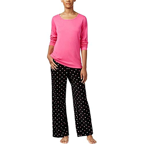 Charter Club 2-Piece Fleece Bottoms Polka Dot Pajama Set (Medium, ()