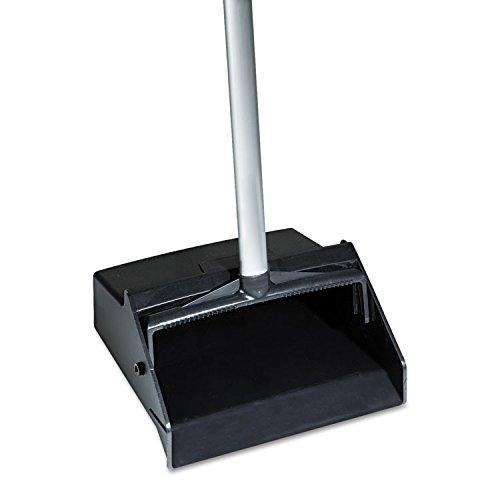 SKILCRAFT 7290-01-460-6663 Dustpan with Aluminum Handle and Plastic Hopper, Black - Aluminum Hopper