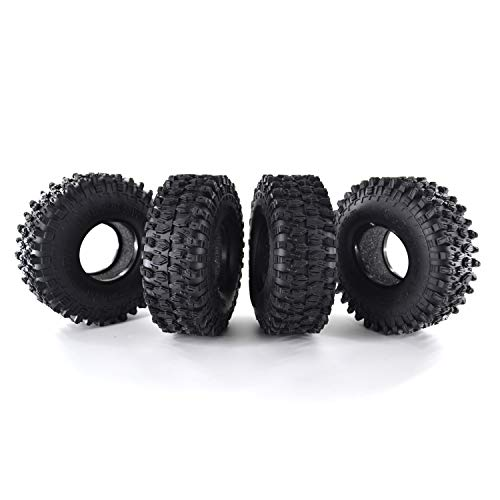 (4Pcs AUSTAR AX-5020 1.9 Inch 120mm Crawler RC Tires - Ultra Soft Rock Crawler Tires Foam Insert for RC Car 1/10 Axial SCX10 90047 D90 D110 TF2 Tamiya CC01 TRX-4 Traxxas Redcat SCX10 AXIAL RC4WD)