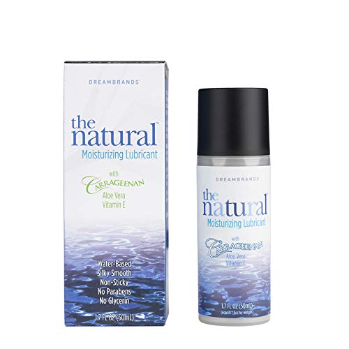 Encounter Moisturizing Gel - The Natural, Carrageenan Water-Based Lube, Personal Lubricant with Vitamin E and Aloe Vera - 1.7 fl oz - DreamBrands