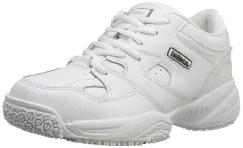 Skidbuster 5056 Women's Leather Comfort Slip Resistant Athletic Shoe,White,9.5 W US