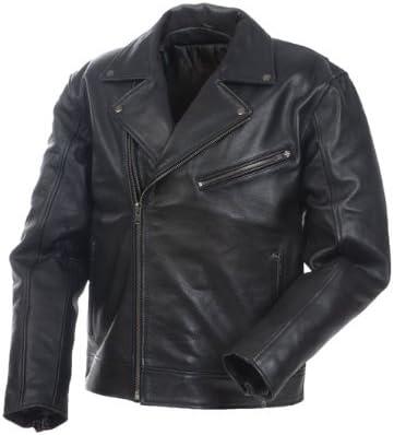 Black, Size 5 Mossi Police Mens Premium Leather Jacket