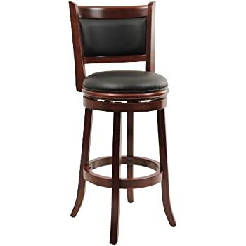 Boraam 49829 Augusta Bar Height Swivel Stool, 29-Inch, Cherry