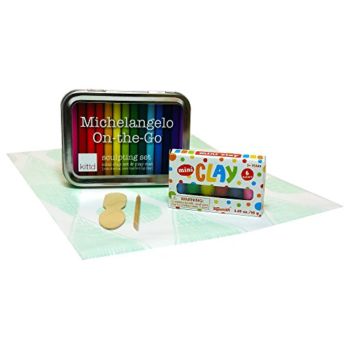 Travel Clay Sculpting Set for kids Michelangelo On-the-Go by kittd