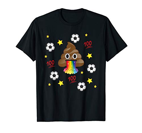 Emoji Love Poop Soccer Team Overload T-Shirt TShirt Kids Mom -