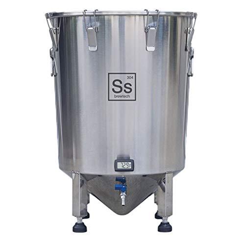 Ss Brewtech Home Brewing Brew Bucket Fermenter; Stainless Steel (14 Gallon) by  Ss Brewtech