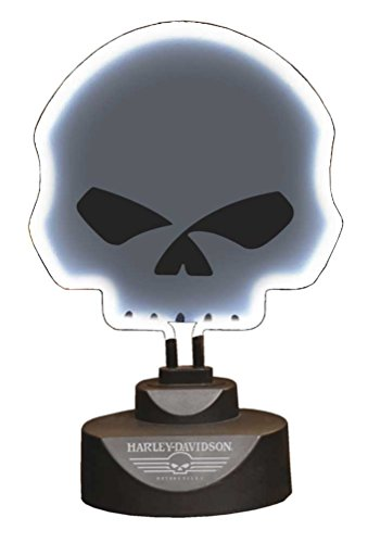 Harley-Davidson Willie G Skull Molded Neon Lamp Shield