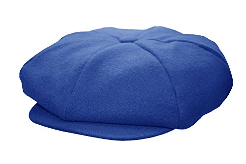 Emstate Mens Melton Wool 8 Panel Applejack newsboy Cap Made In USA Various Colors (Royal)