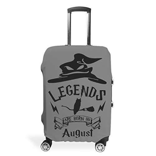 Legends are born in august Brilliant Various colors Travel Suitcase Protective Cover Custom 18 to 32 Inch for Journey…