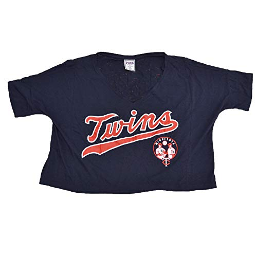 (Victoria's Secret MLB Baseball Crop Graphic T-Shirt (XS, Minnesota Twins))