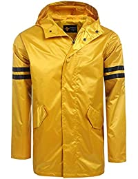 Men's Lightweight Waterproof Rain Jacket Packable Hooded Long Raincoat Windbreaker Jackets