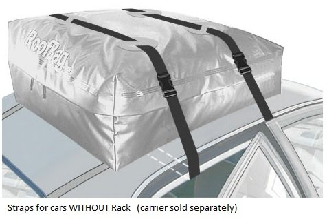 RoofBag Car Top Carrier Extra Straps -for Cars with or Without Rack by RoofBag (Image #5)