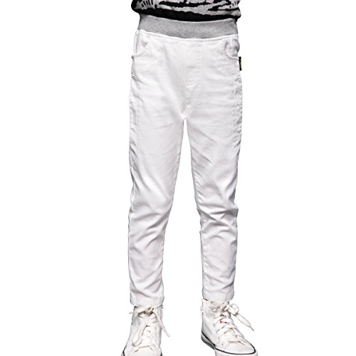 NABER Kids Boys Slim Fit Casual Pull On Elastic Waist Pants Trousers Size 4-14 Years
