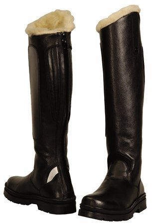 TuffRider Women's Tundra Fleece Lined Tall Boots in Synthetic Leather, Black, 10 Slim