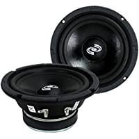 2) Pyle PDMR6 6.5 600W Car Mid Bass MidRange Woofer Audio Speakers 8 Ohm Black