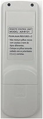 Lands AR-RY21 Ar RY21 Mando a Distancia para Fujitsu General Inverter Air Conditioner ASBA24LFC ASBA30LFC