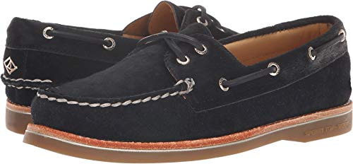 Leather Lambskin Platforms (SPERRY Women's A/O Pony Hair Black 7 M US M (B))