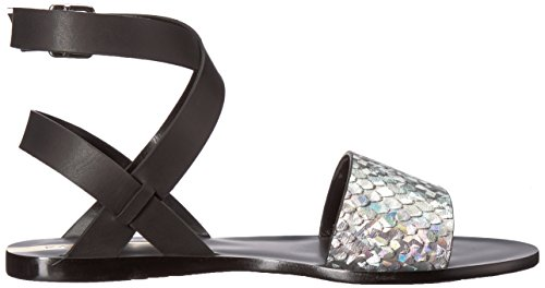 Paraty Naisten Musta Hologrammi Gladiaattori Tasainen Kaanas Sandaali TwnqAdw5