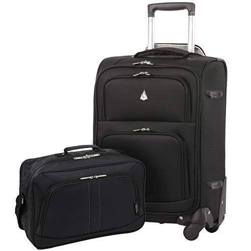 Large Capacity Maximum Allowance 22x14x9 Luggage Carry On Away Travel Suitcase Spinner Rolling Cabin Wheeled Bag Set