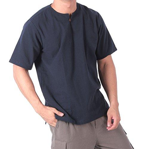1506080615 CandyHusky Men's 100% Cotton Summer Beach Hippie Yoga Top T-Shirt Short  Sleeve
