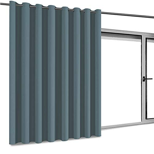 Nursery Essential Thermal Insulated Solid Grommet Top Blackout Curtains/Drapes (1 Panel, 100 x 96 Inch in Citadel)